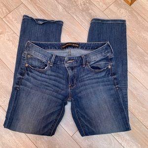 Express Barely Bootcut Darkwash Denim Jeans